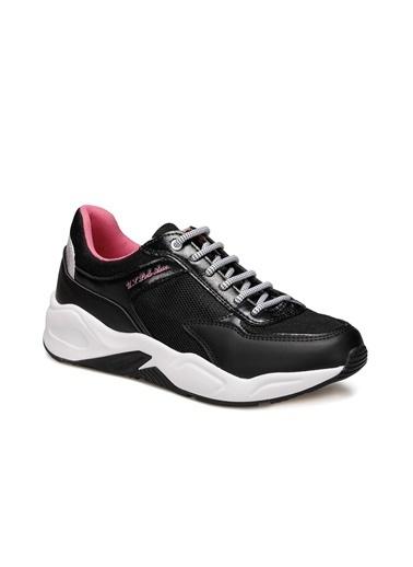 U.S. Polo Assn. Elly Kadın Sneaker Sıyah Siyah